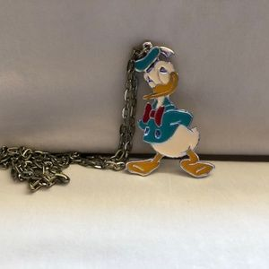 Vintage Disney Donal Duck Necklace